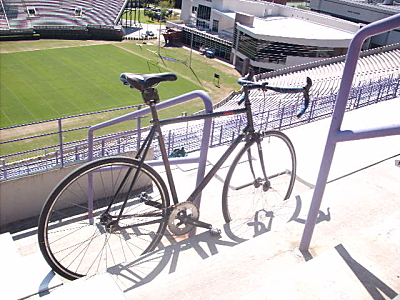 Hey, how'd that fixie find it's way to the upper deck?